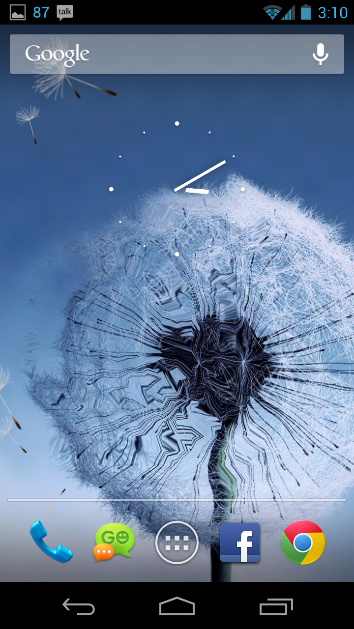 Samsung Galaxy S III Dandelion Live Wallpaper App | CareAce – #1 ...