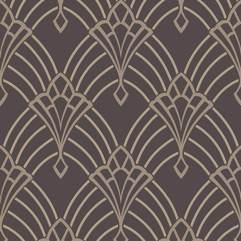 Astoria Deco Wallpaper Charcoal and Silver Rasch 305319     Amazoncom 1500x1500