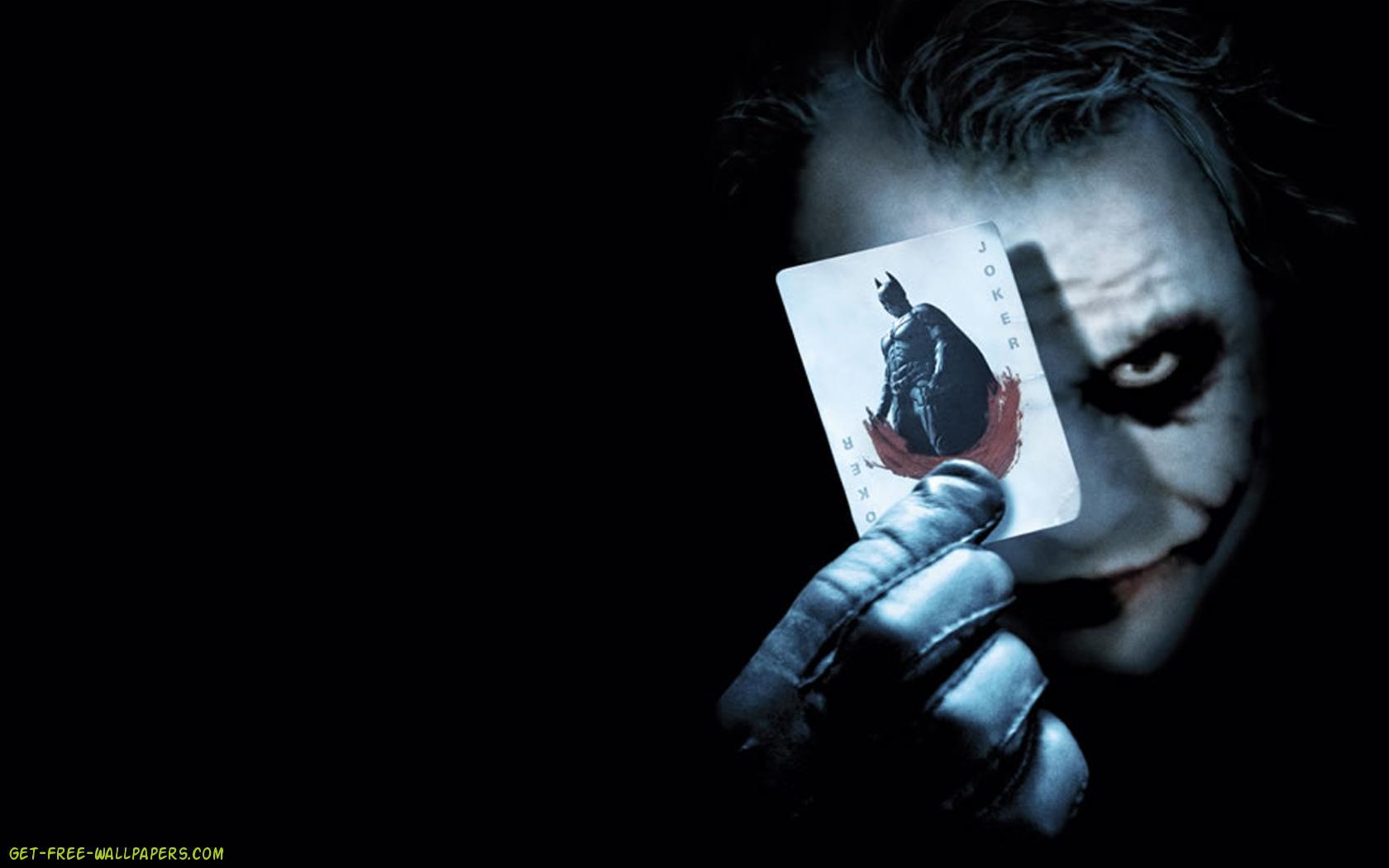 Download Batman Joker Card Wallpaper 1680x1050