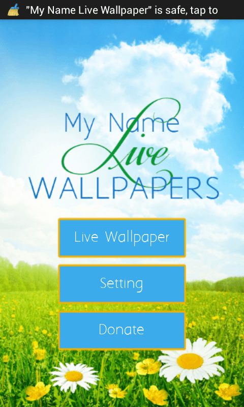 FREE APP] [MY NAME LIVE WALLPAPER] write your name or desire text on 480x800