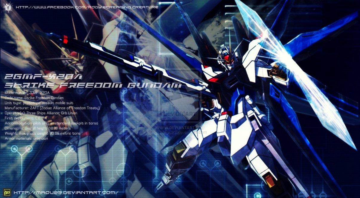 Strike Freedom Gundam by Maou23 1204x663