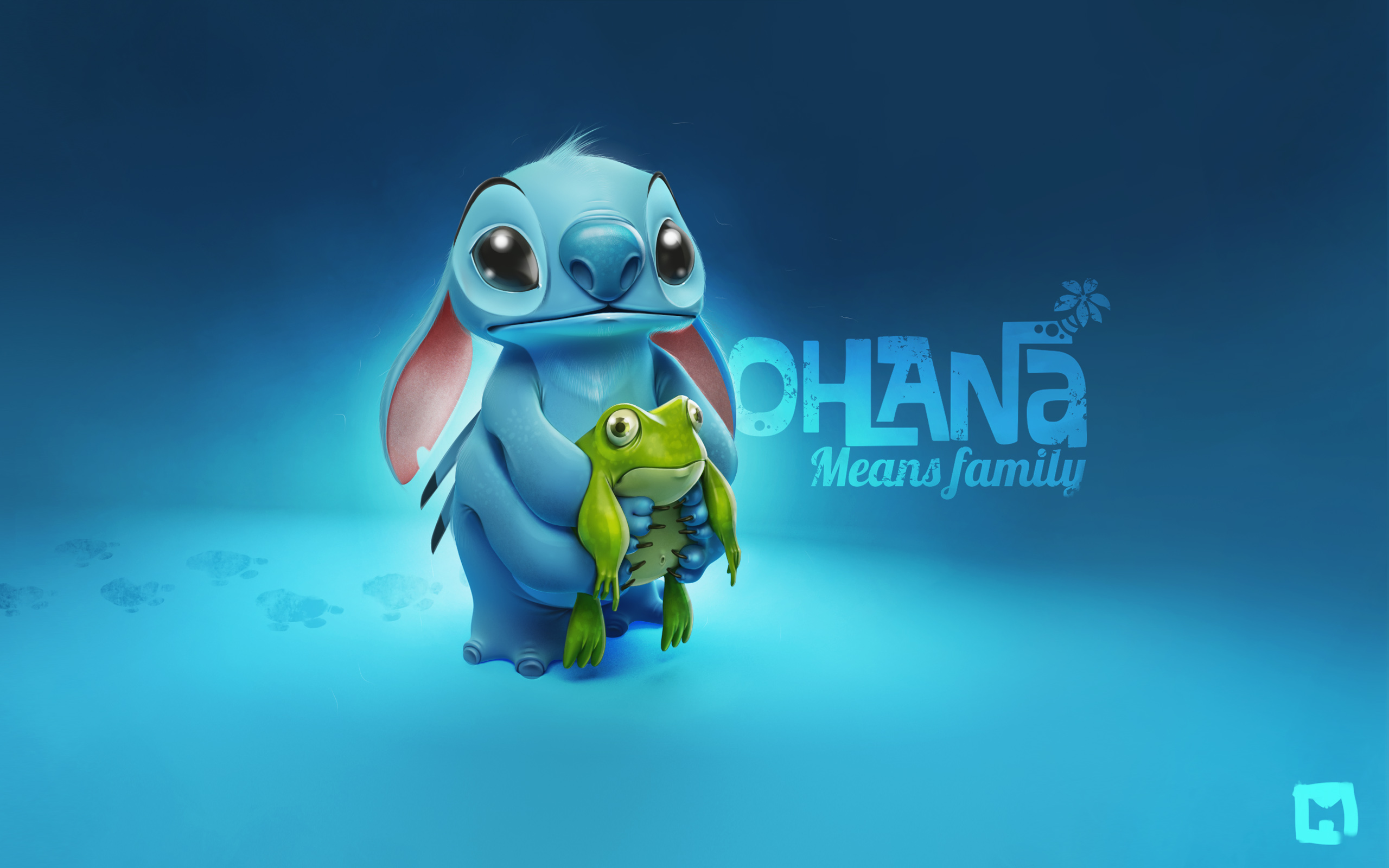 Stitch wallpaper cute adorable creature alien Stitch blue wallpapers 2560x1600