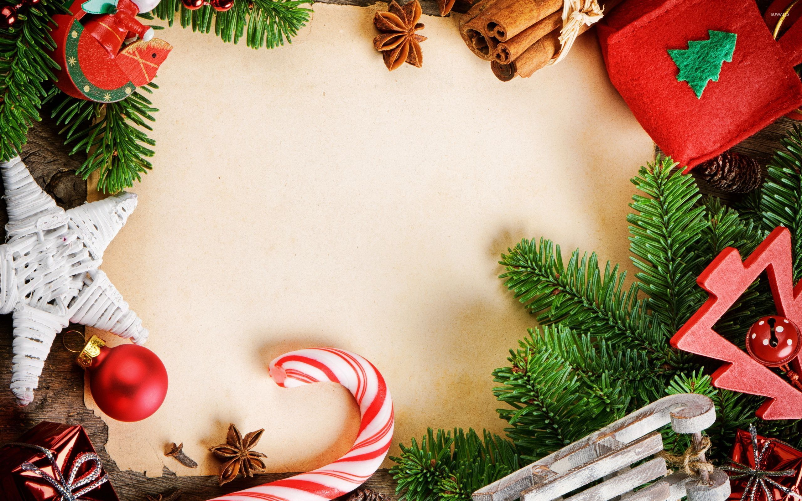 download Christmas decorations wallpaper Holiday wallpapers 2560x1600