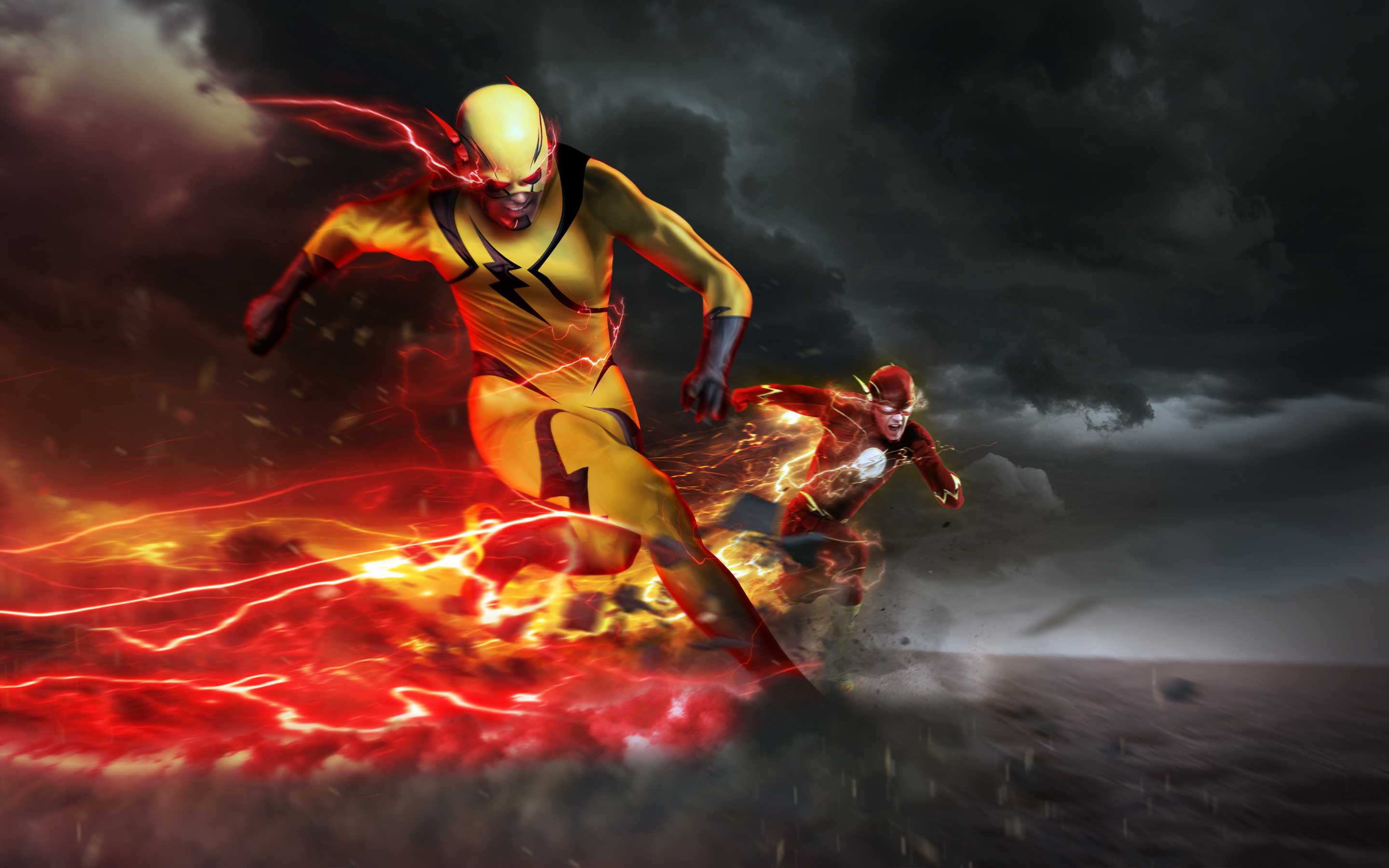 Eobard Thawne as Professor Zoom in The Flash Wallpapers 2880x1800