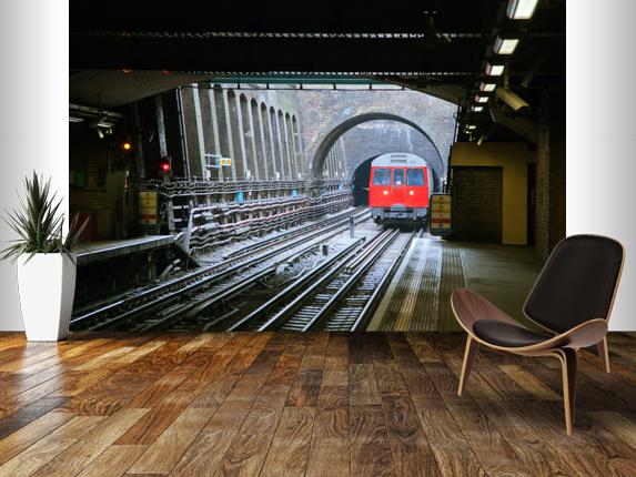 Underground Train Wall Mural London Underground Train Wallpaper 573x430