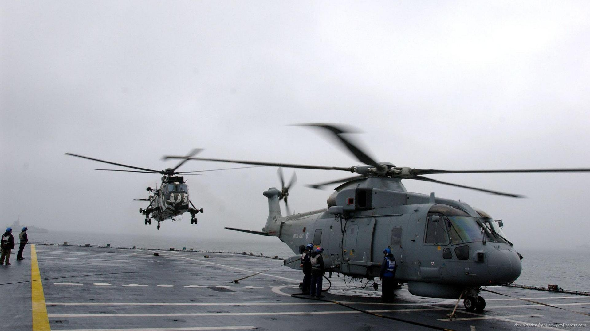 Navy Merlin And Royal Marine Sea King Screensaver For Kindle3 And DX 1920x1080