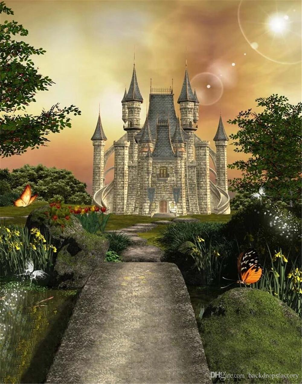 2019 Long Road To Vintage Castle Photo Studio Backgrounds Trees 1000x1272