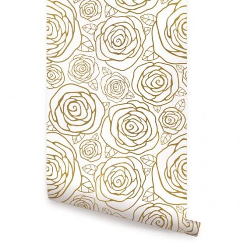 Spring Garden Flower Peel and Stick Fabric Wallpaper   2ft x 9ft sheet 500x500