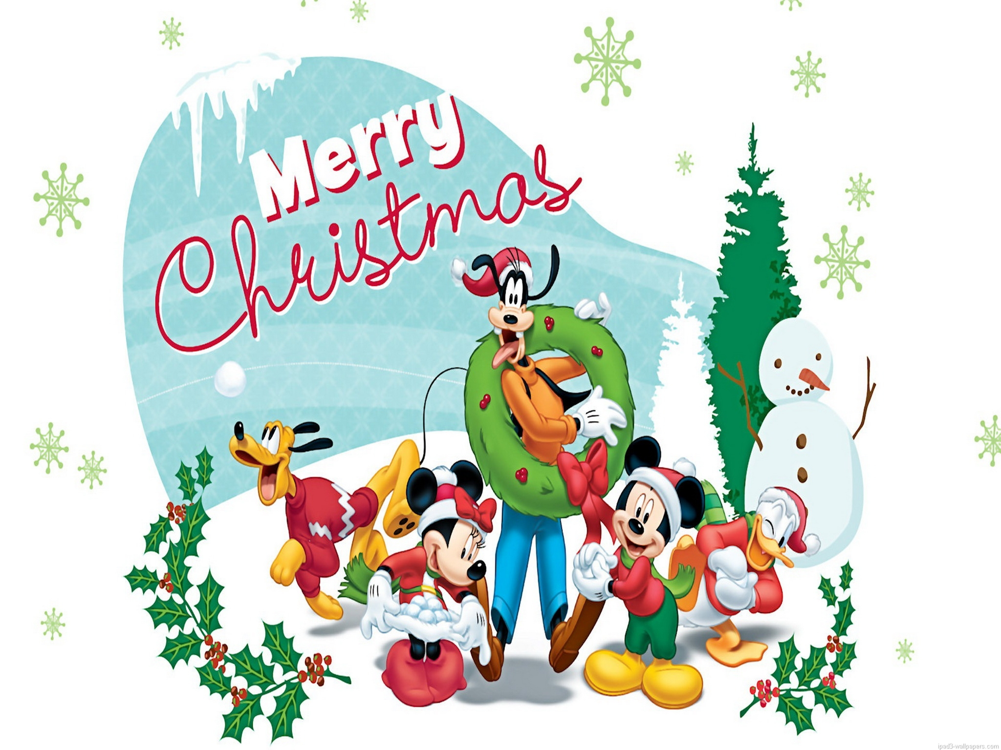 Free Ipad Wallpaper Christmas: Disney Christmas Wallpaper For IPad