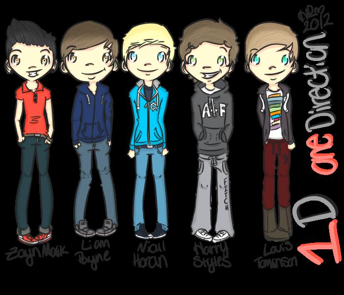 One Direction Cartoon   One direction Fan Art 700x600