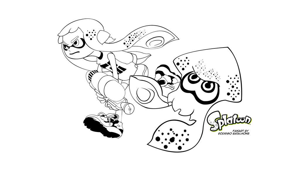 Splatoon Inkling Girl Squid by rodrigobatalhone 1024x576