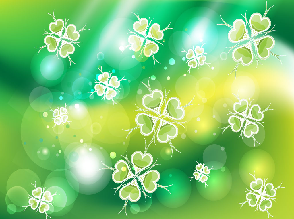 Green Clover Background Image 1024x765