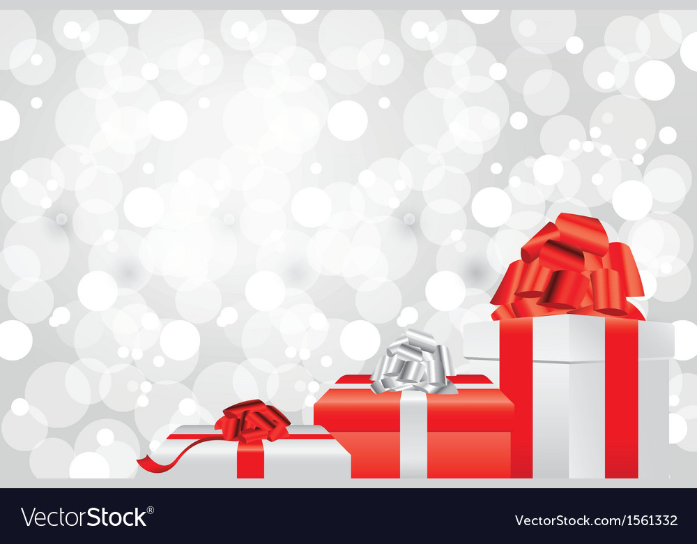 White christmas background gifts Royalty Vector Image 1000x780