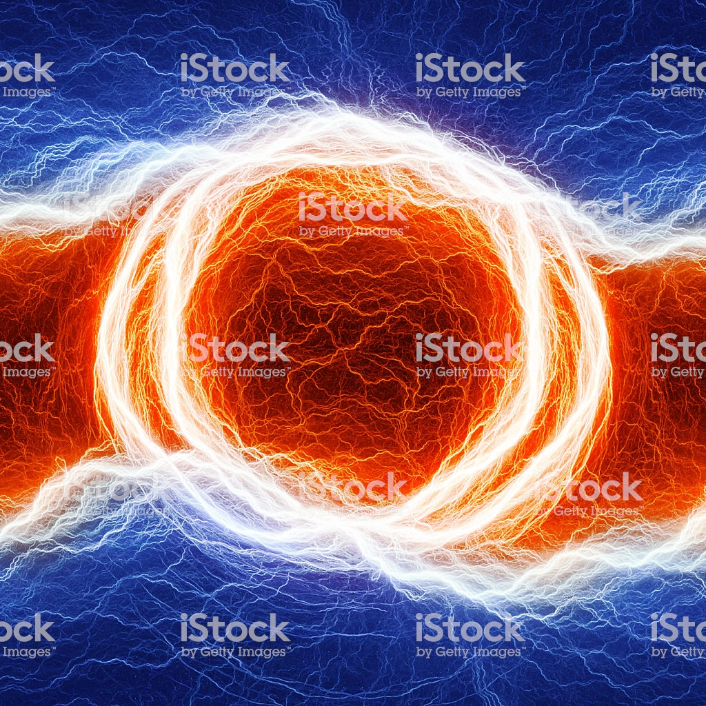 Fire And Ice Abstract Lightning Background Clash Of The Elements 1024x1024