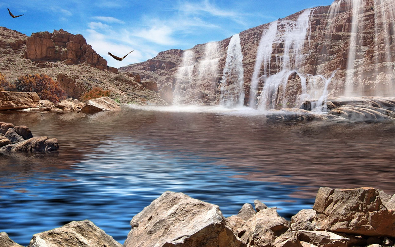 9 Spectacular Hd Waterfall Wallpapers To Download: Wallpaper Waterfall Views For Computer