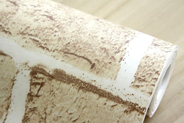 10m PVC Wallpaper Beige Brick Stone Prepasted Self adhesive Wallpaper 780x520