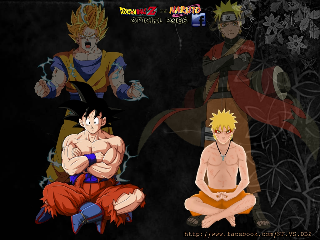 Goku Vs Naruto Wallpaper Goku ssj vs naruto sage mode 1024x768