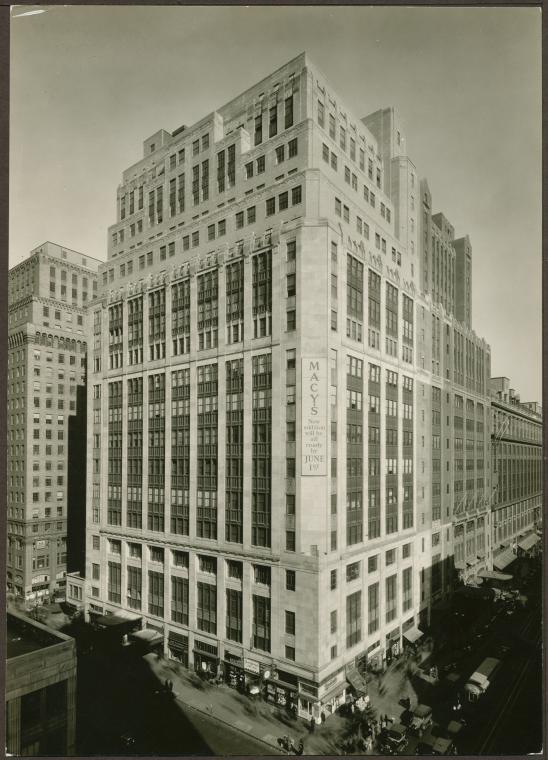 Macys NYC New York Historic 1930s Photo NY 548x760