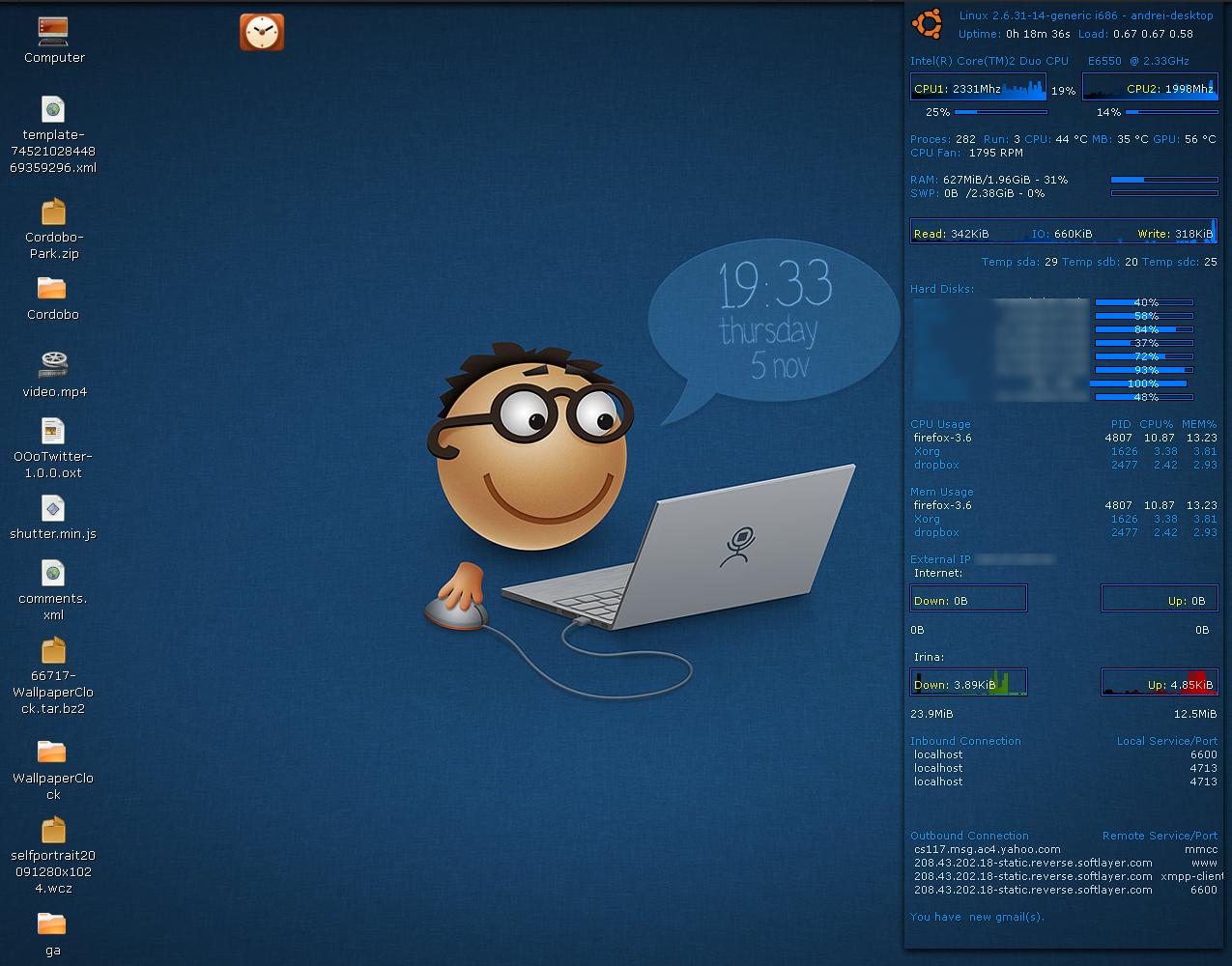 Linux Unix Install Wallpaper Clocks In Ubuntu Linux 1275x1000