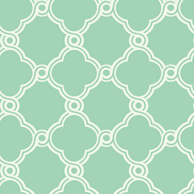 Trellis Wallpaper Mint GreenWhite Double Roll contemporary wallpaper 640x640