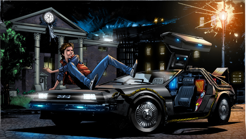 back to the future delorean dmc 12 marty mcfly back to the 970x550