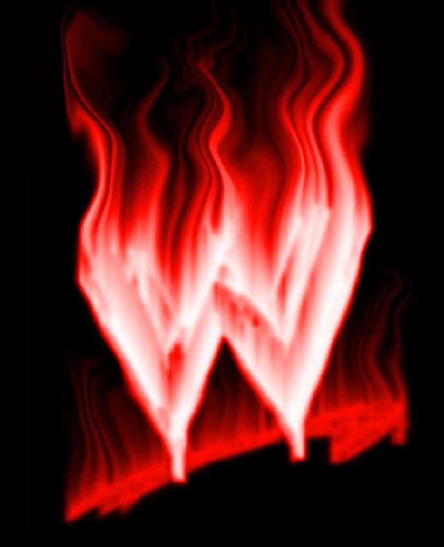 wwe logo on fire by JLPM 900x1107