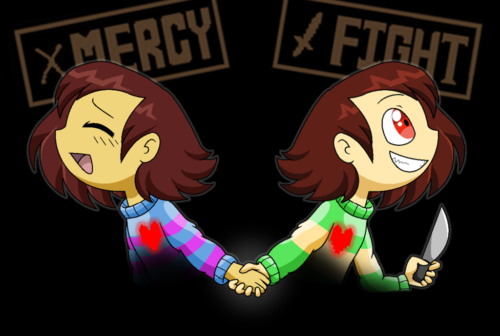 Undertale   Frisk and Chara by BlueTrueBrazilFilly 1024x689