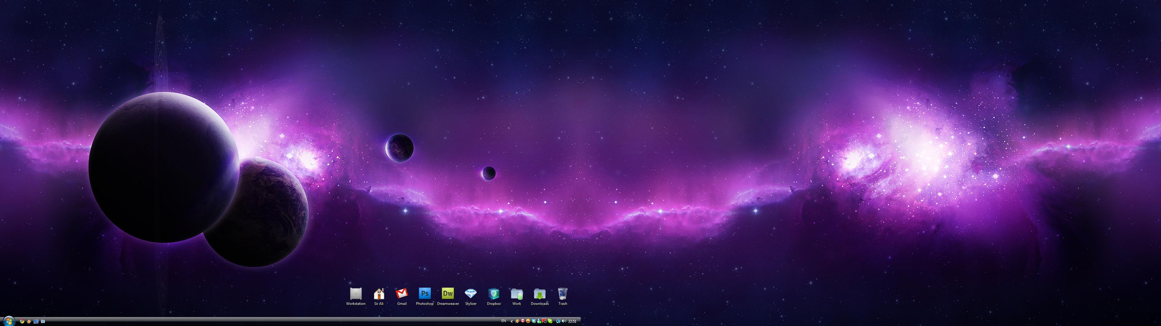 Purple Screen Monitor : Dual monitor wallpapers windows wallpapersafari