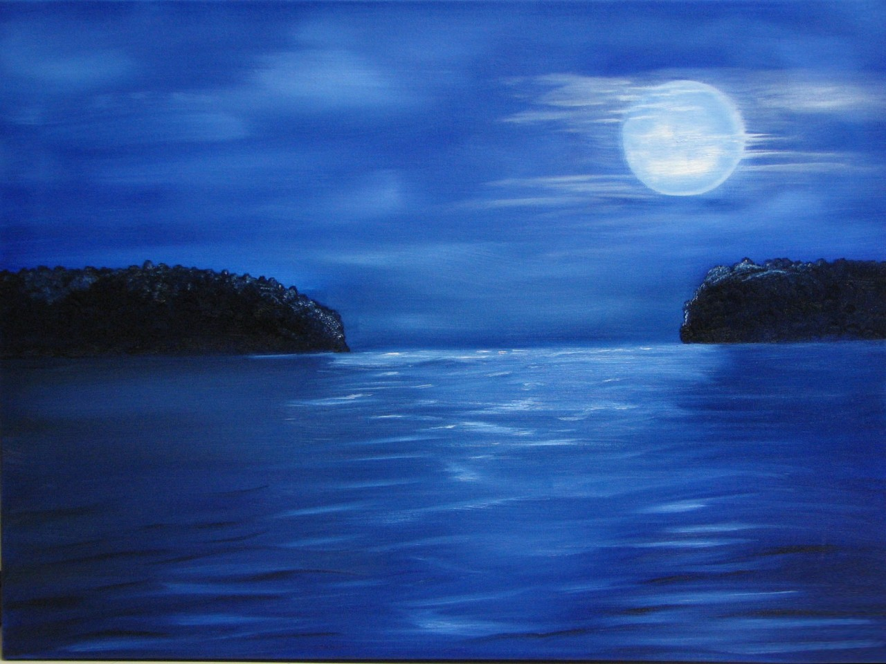 BLUE MOON OVER OCEAN wallpaper   ForWallpapercom 1280x960