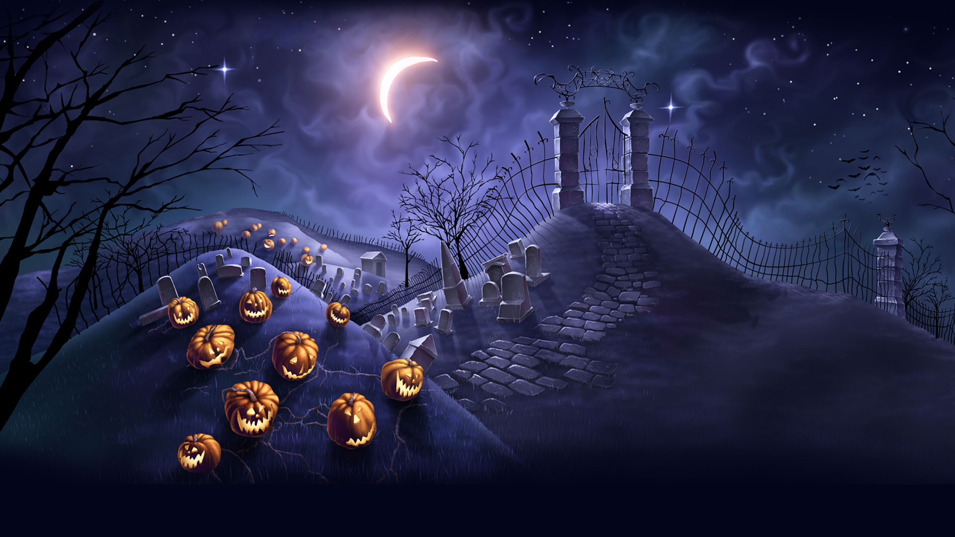 50 Scary Halloween 2019 Wallpapers HD Backgrounds Pumpkins 1920x1080