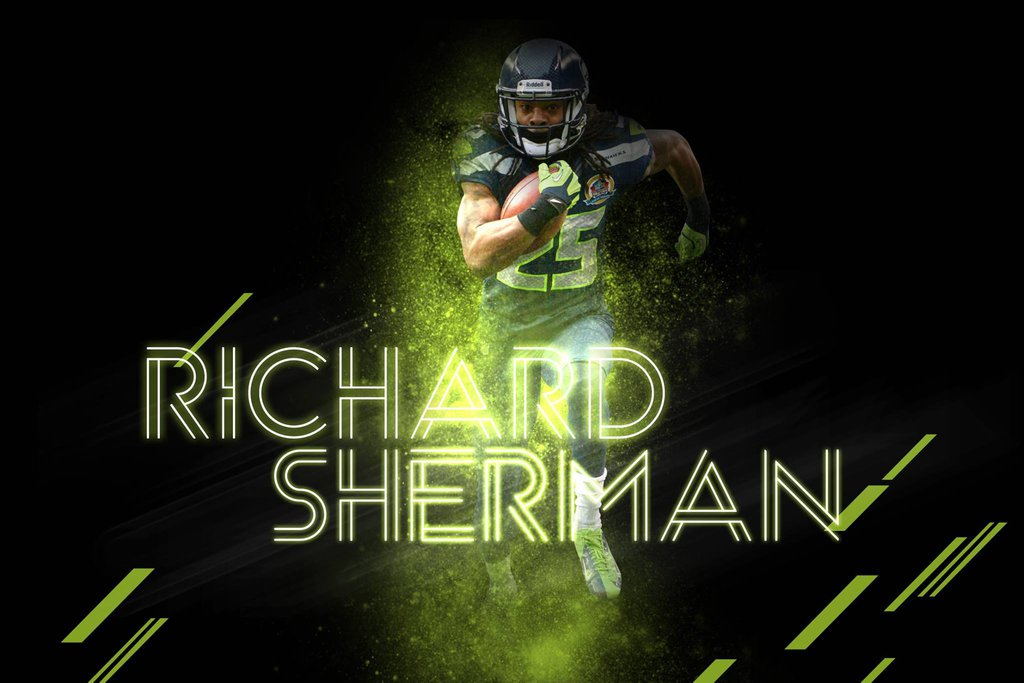 Wallpaper Richard Sherman by HazZbroGaminG 1024x683