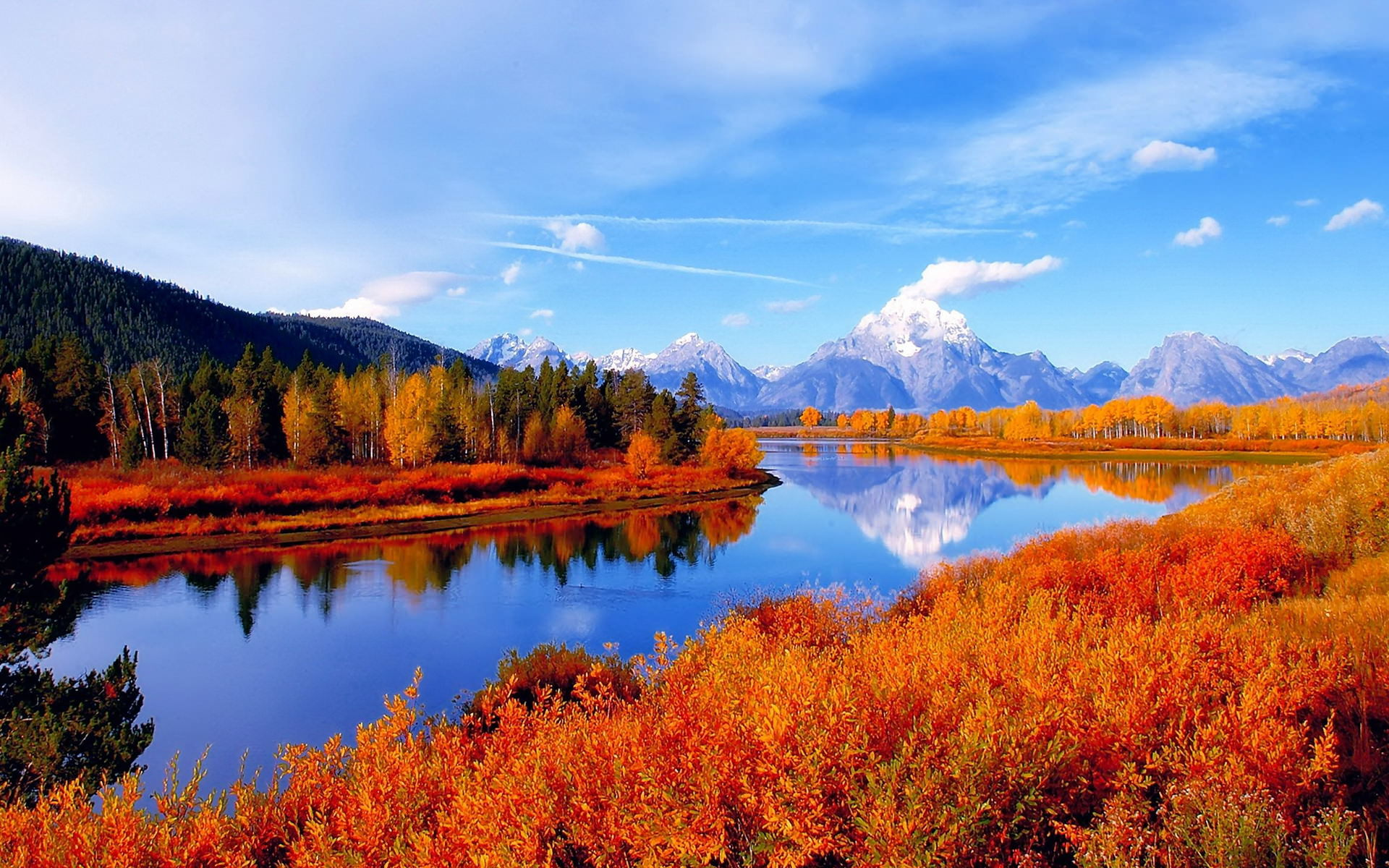 40 Autumn Scene Background Wallpaper for Desktop 1920x1200