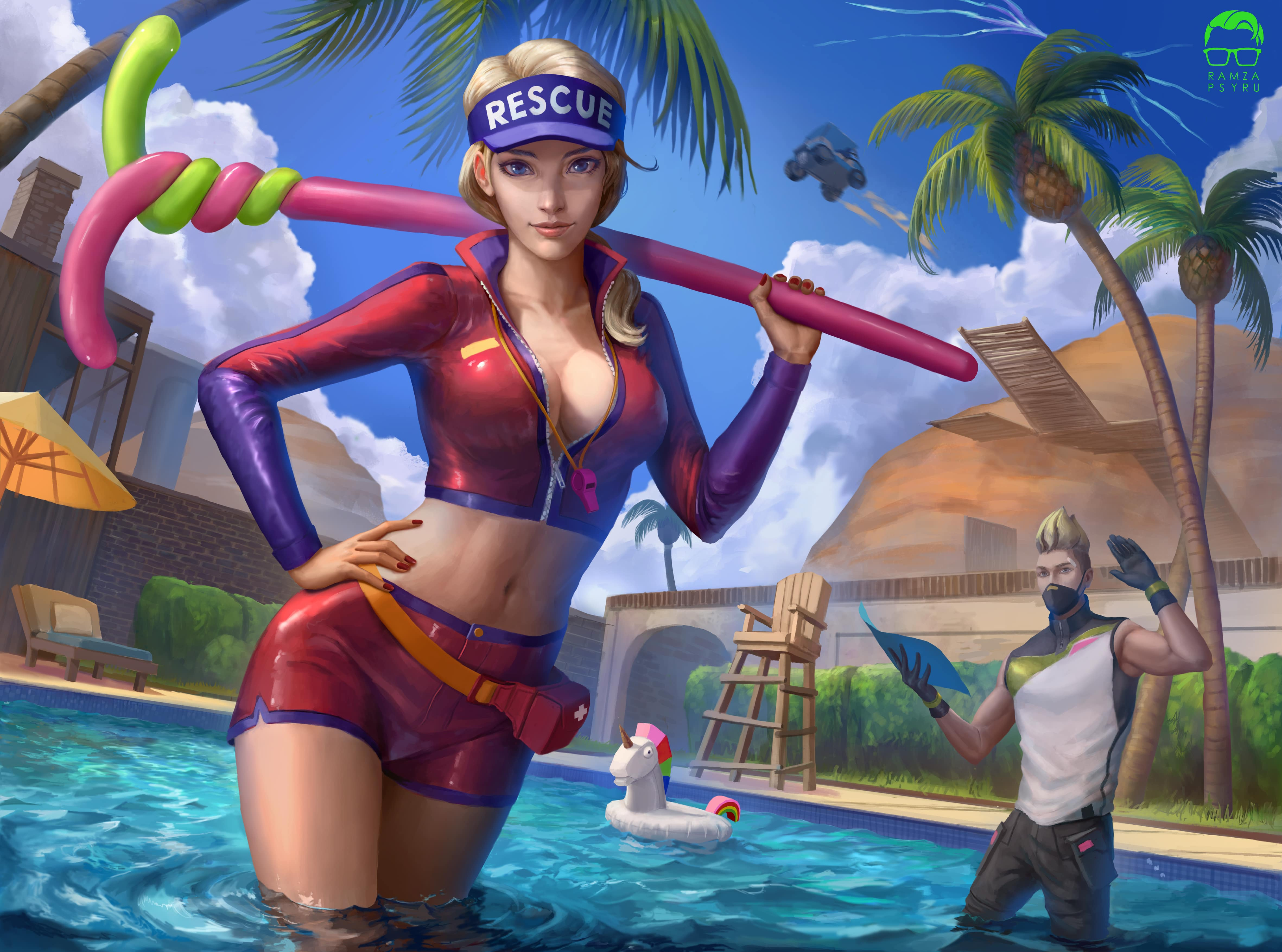 Fortnite Paradise Palm Pool Party by Ramzapsyru 4248 Wallpapers 4724x3508