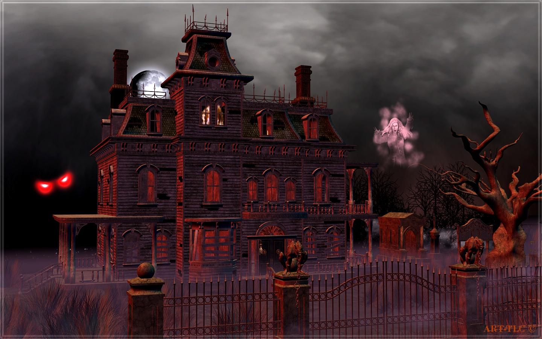 free animated haunted house wallpaper wallpapersafari