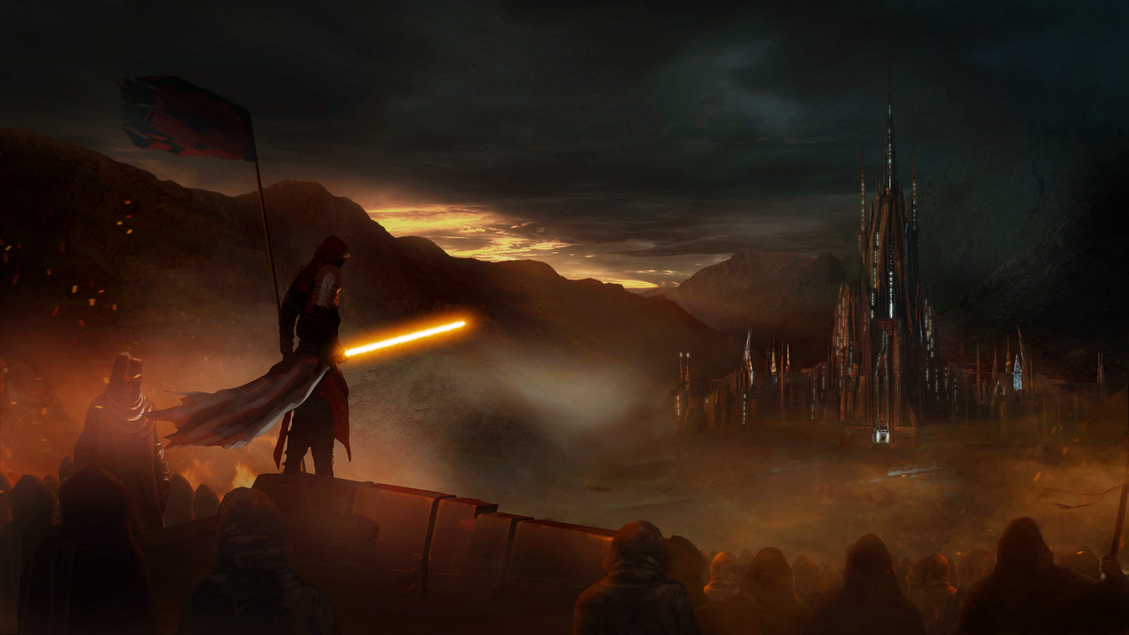 Star Wars Wallpaper 1600x900 Sith Banner