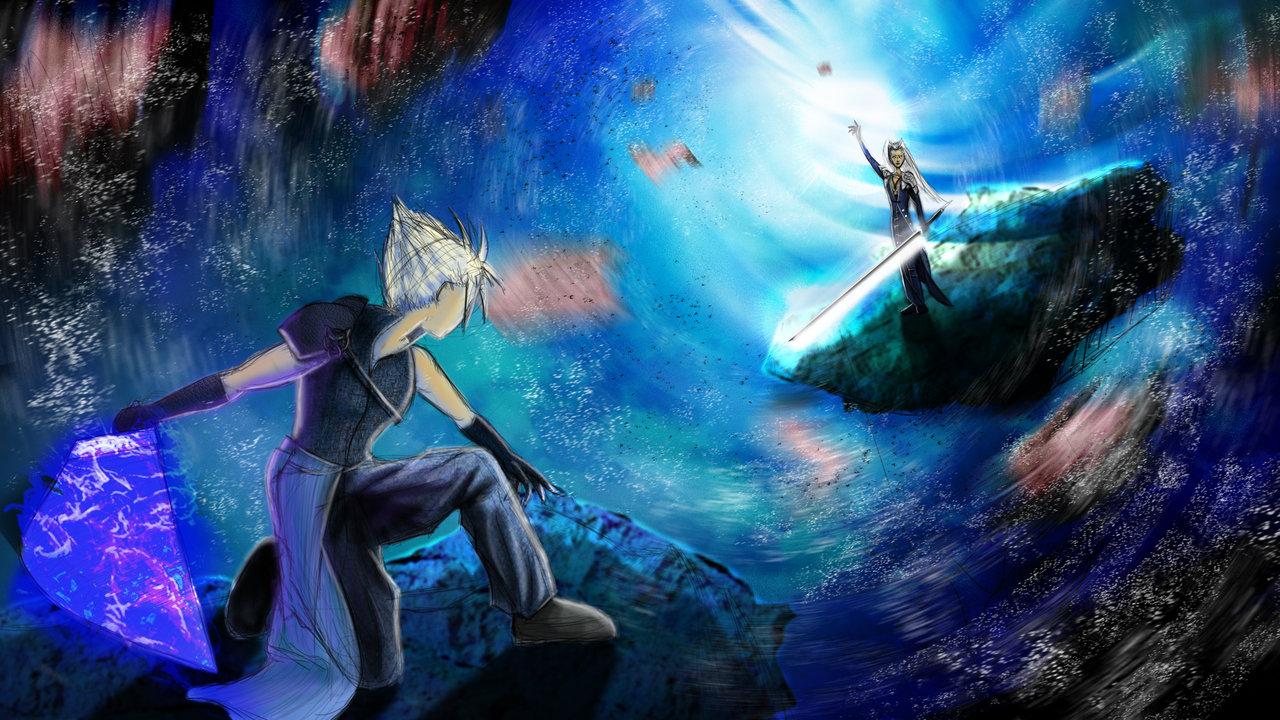 cloud vs sephiroth by shinobidigitalarts fan art wallpaper games i had 1280x720