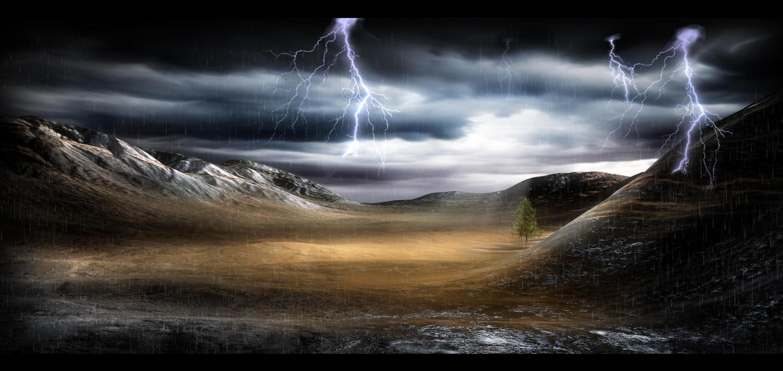 Fantastic Thunderstorm Screensaver 1523x721