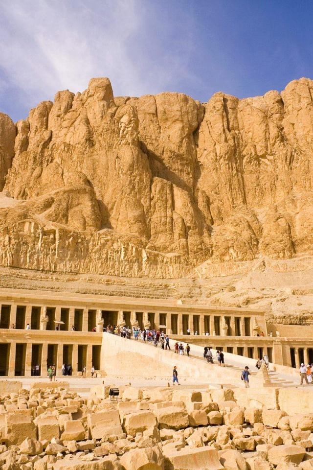 640x960 Queen Hatshepsut Temple Egypt Iphone 4 wallpaper 640x960