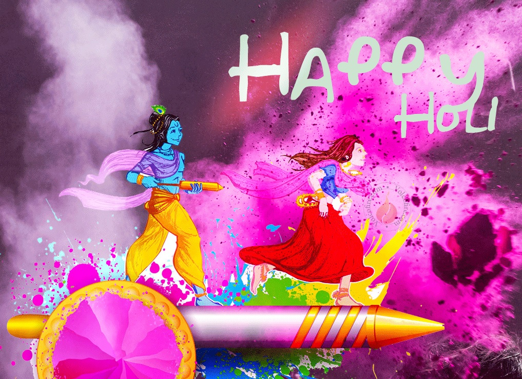 Happy Holi Radha Krsihna HD Images Wallpapers Holi 2017 1017x739