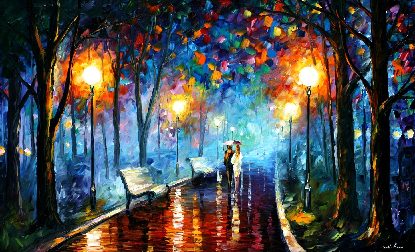 Leonid Afremov Misty Mood wallpaper 61550 1454x882