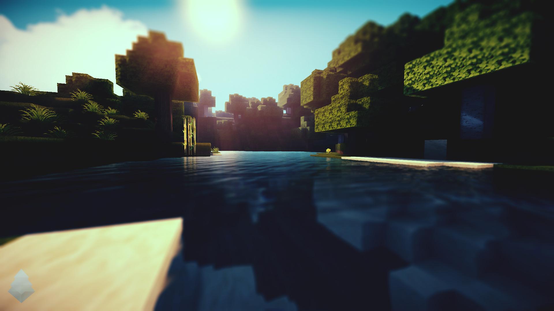Minecraft Waterlight Wallpaper by lpzdesign 1920x1080