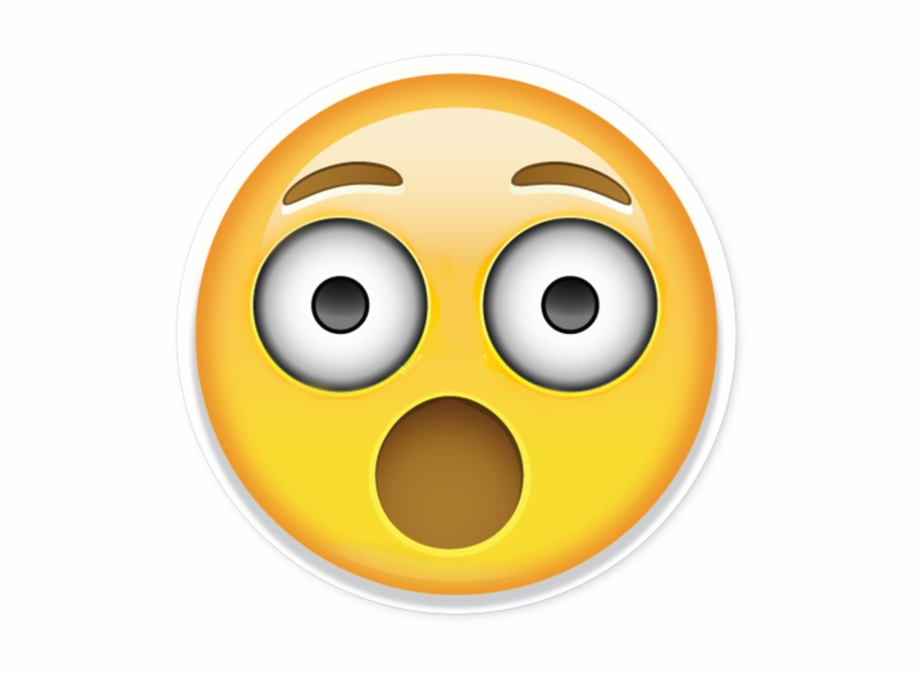 Surprised Emoji Transparent Background   shocked face png 920x675