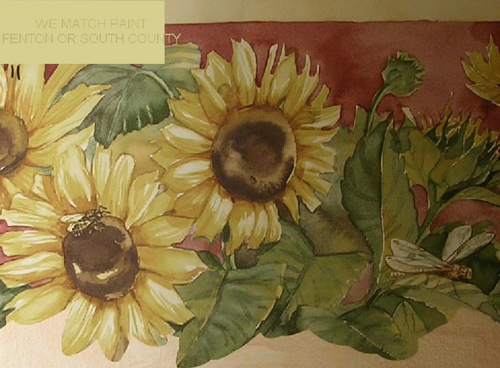 sunflower wallpaper border sunflower wallpaper border designing a 729x536