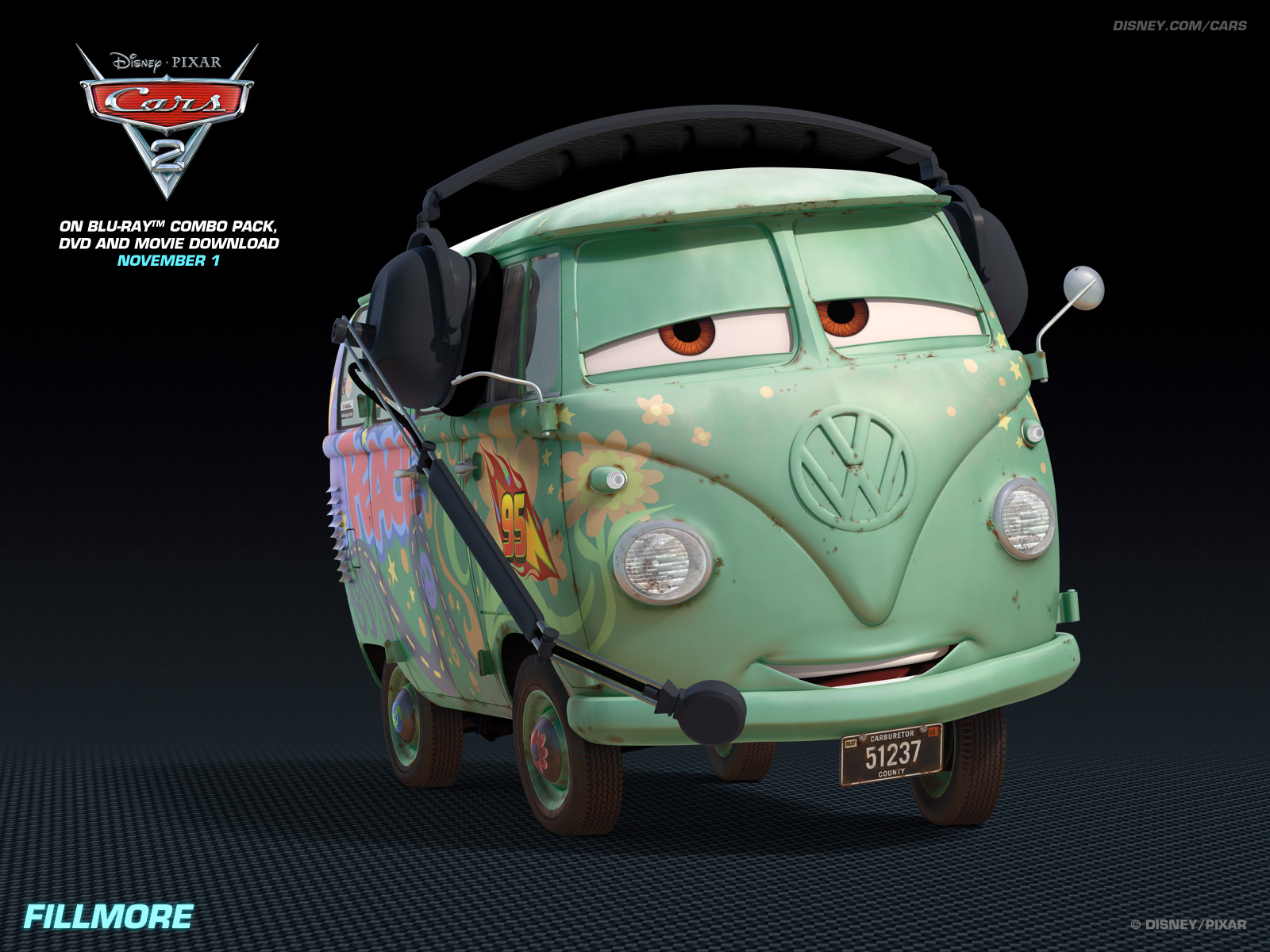 Fillmore   Disney Pixar Cars 2 Wallpaper 28104499 1600x1200