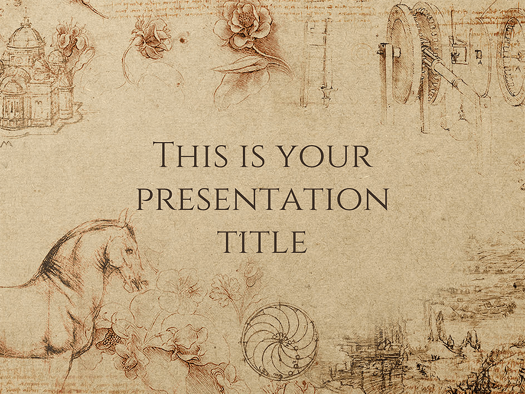This presentation template uses a textured paper background 1024x768