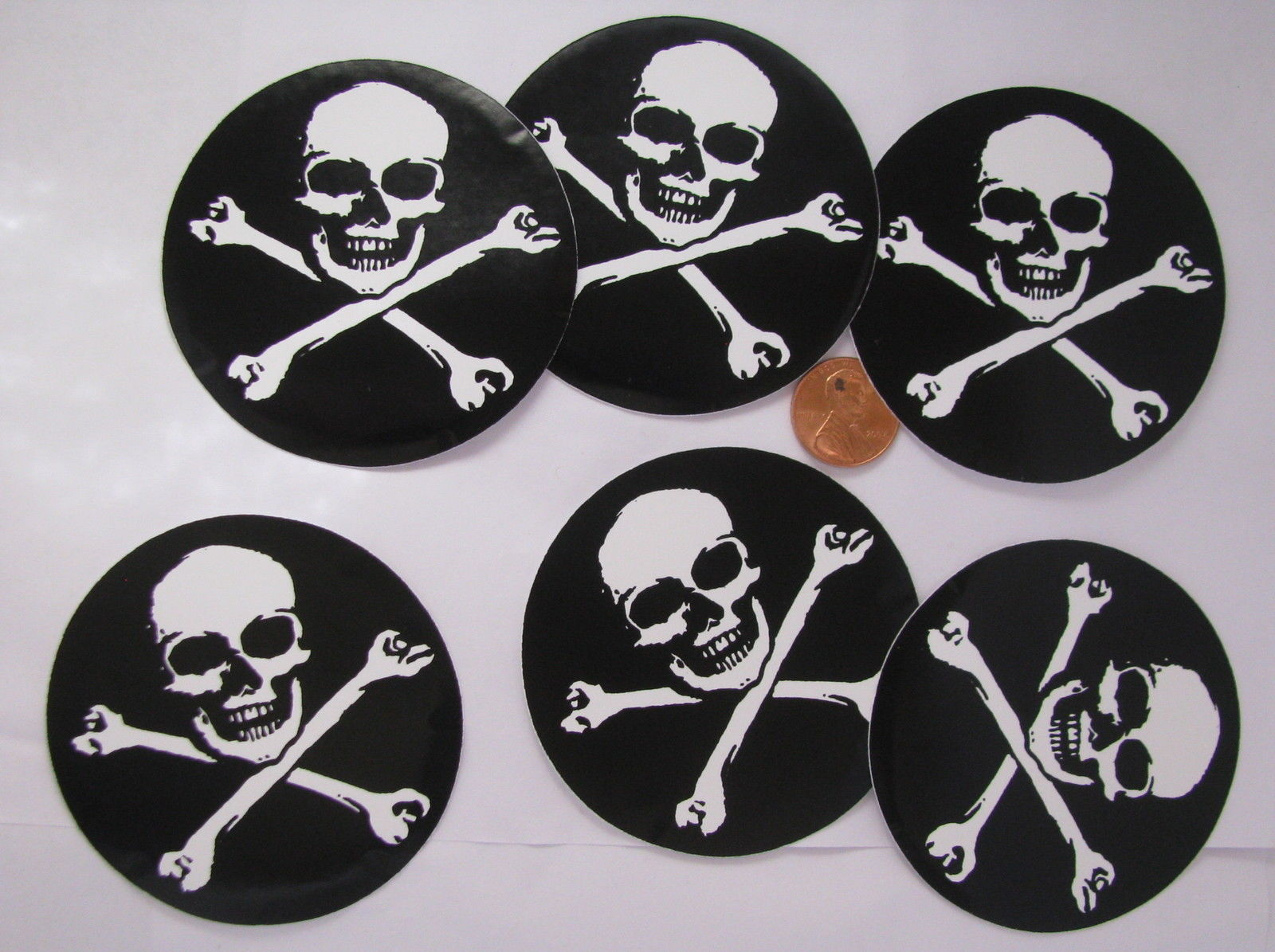 stickers Pirate round skull and Cross bones decal   Stickers Decals 1600x1195