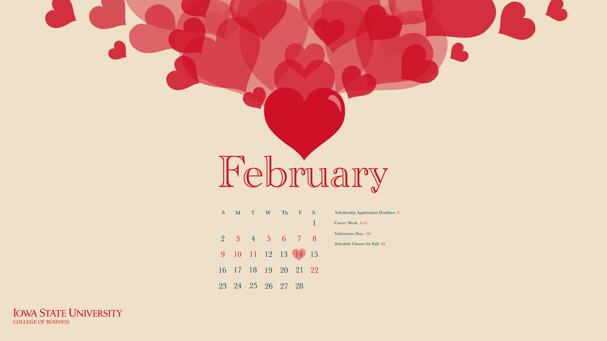 February 2014 Desktop Wallpaper 2560x1440