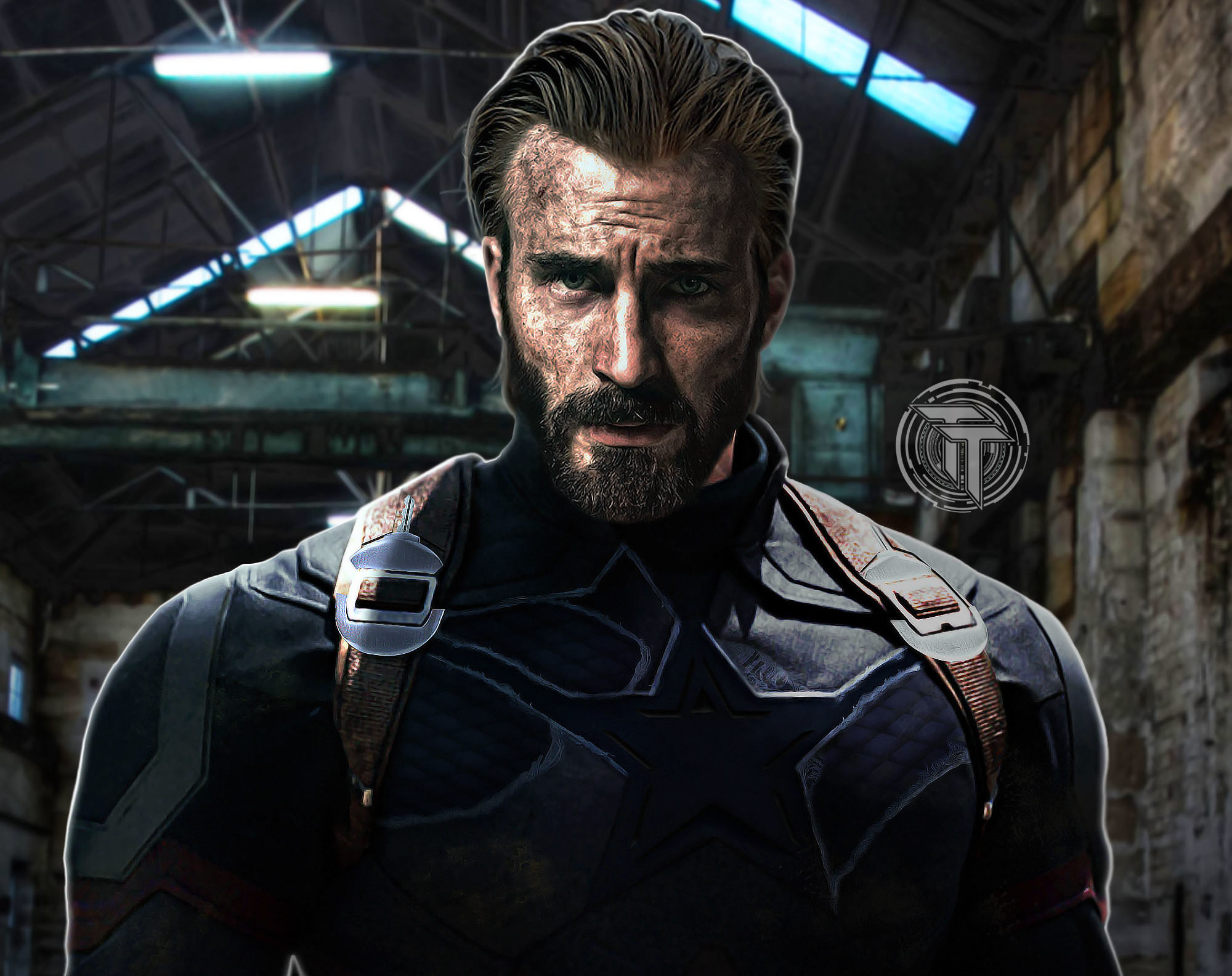 1920x1080 Captain America Beard Look In Infinity War 1080P Laptop 2000x1584