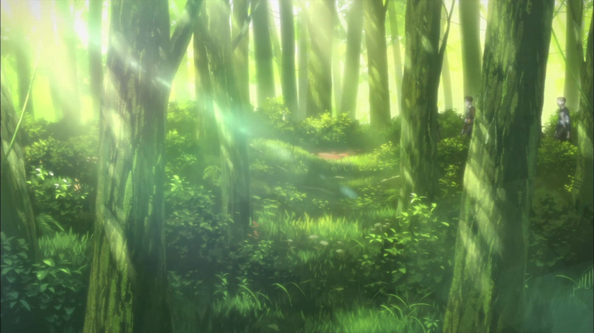 Gallery For Anime Forest Background 854x480