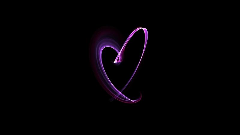 black minimalistic pink waves hearts gradient 1920x1080 wallpaper 800x450